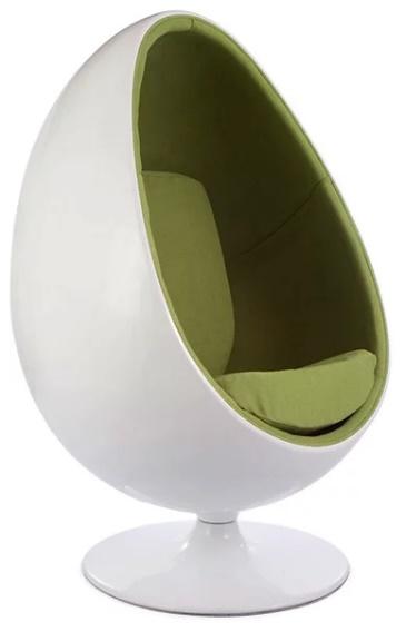 Fauteuil Egg ovale vert