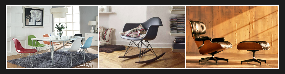 Exemples de produits Eames