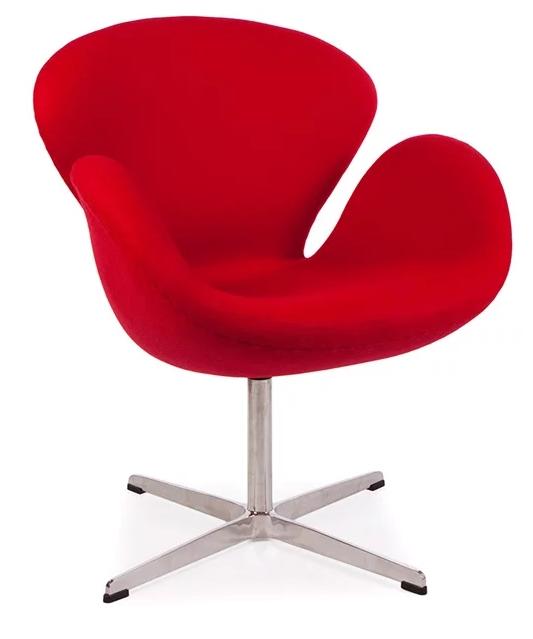 Le fauteuil Swan rouge