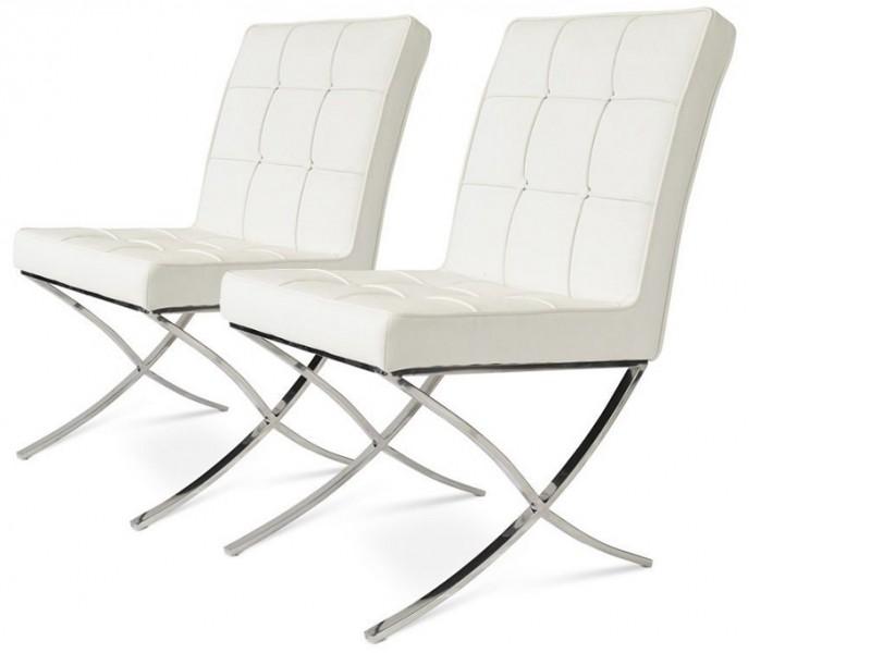 Image de l'article Barcelona Dining Chair - Blanc (2 chaises)