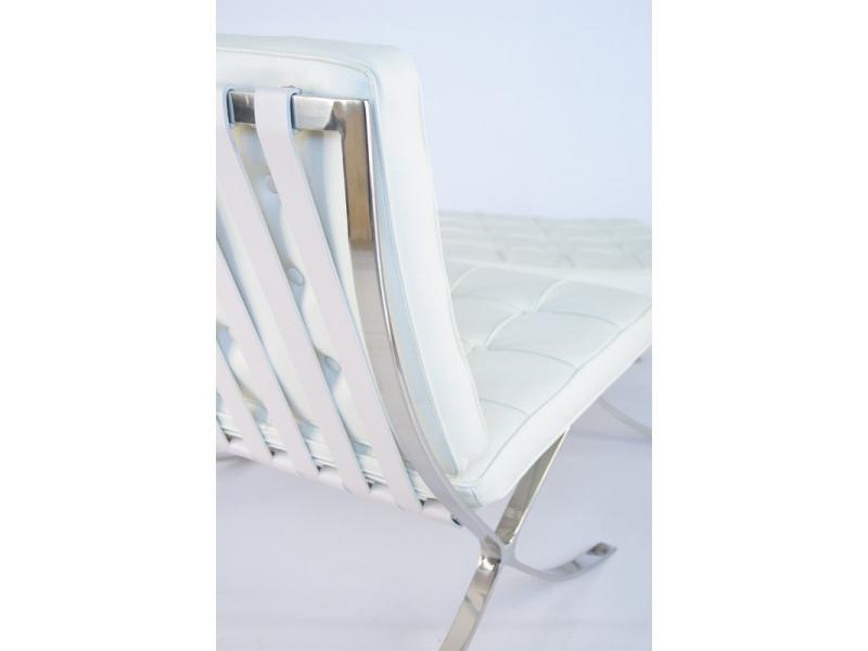 Chaise barcelona blanc ivoire - Chaise blanc d ivoire ...