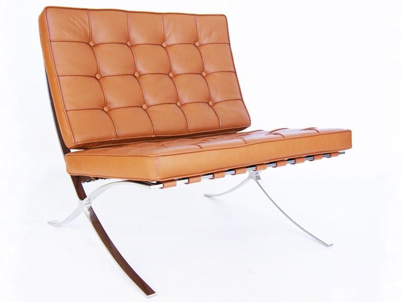 chaise barcelona havane. Black Bedroom Furniture Sets. Home Design Ideas