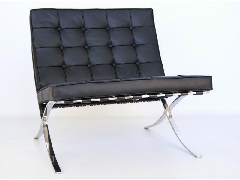 Chaise barcelona noir for Recherche chaises