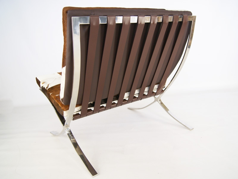chaise barcelona pony marron blanc. Black Bedroom Furniture Sets. Home Design Ideas