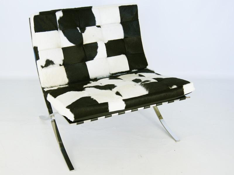 Chaise Barcelona Pony - Noir   blanc