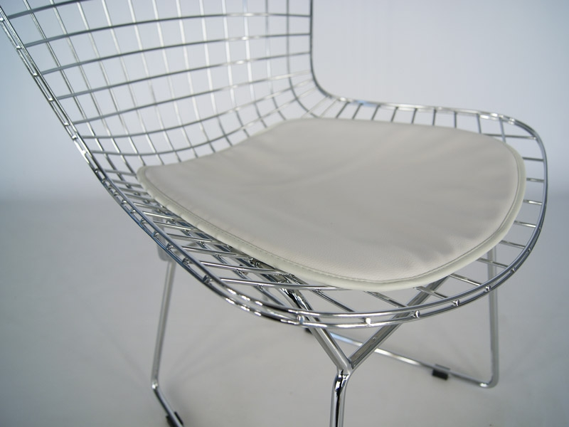 Bertoia wire side chaise argent for Bertoia chaise prix