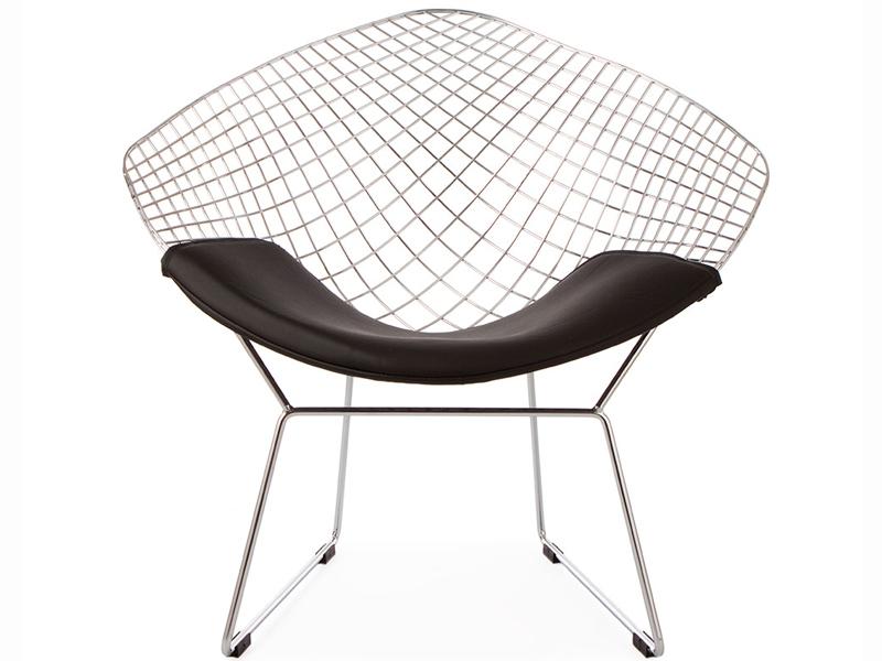 chaise bertoia wire diamond noir. Black Bedroom Furniture Sets. Home Design Ideas