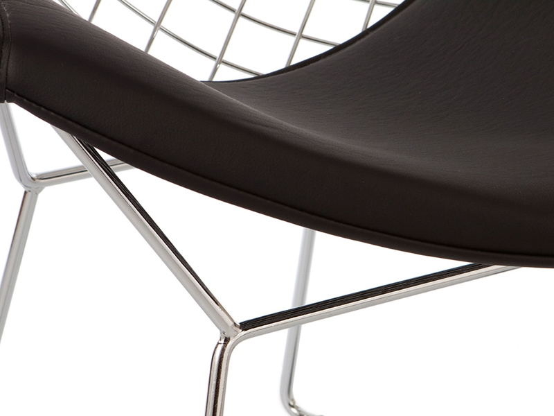 Chaise bertoia wire diamond noir for Bertoia chaise prix
