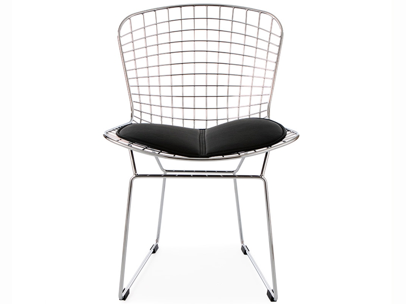Chaise bertoia wire side noir for Bertoia chaise prix