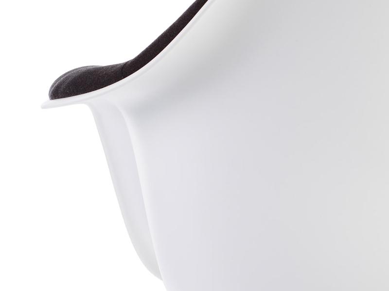 Image de l'article Chaise DAR rembourrée laine - Gris