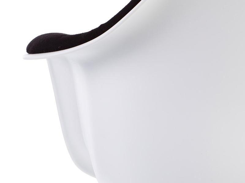 Image de l'article Chaise DAR rembourrée laine - Noir