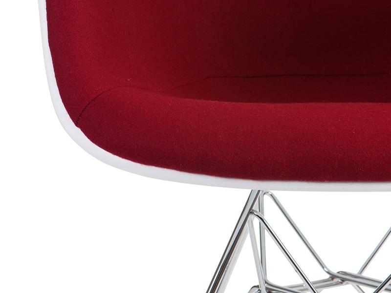 Image de l'article Chaise DAR rembourrée laine - Rouge