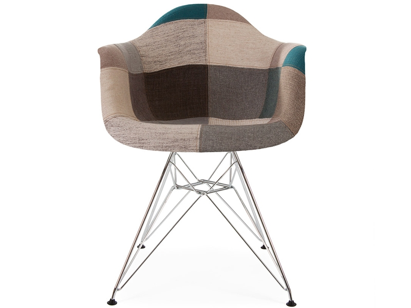 Chaise dar rembourr e patchwork bleu for Chaise scandinave patchwork bleu
