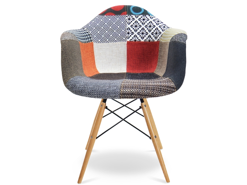 Chaise daw rembourr e patchwork for Chaise rar patchwork