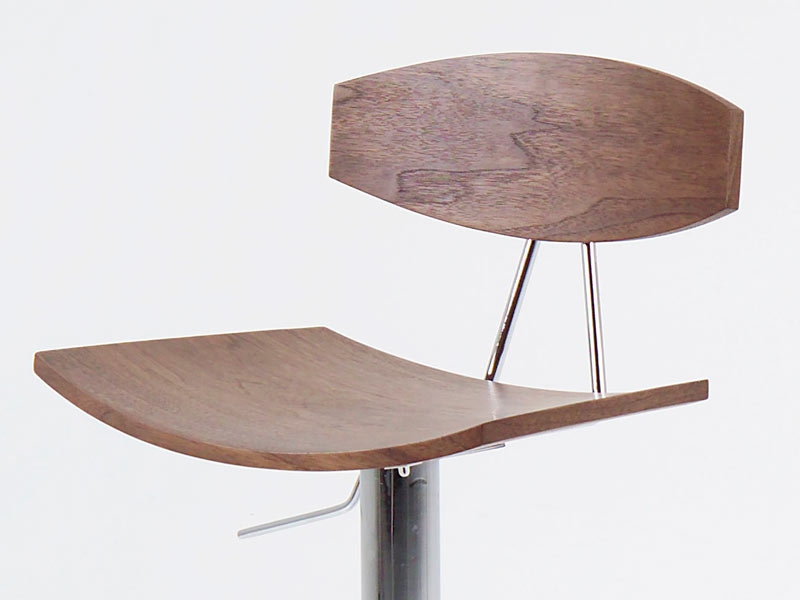 chaise de bar blaise noyer. Black Bedroom Furniture Sets. Home Design Ideas