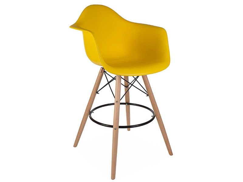 Chaise de bar dab jaune moutarde for Chaise jaune moutarde