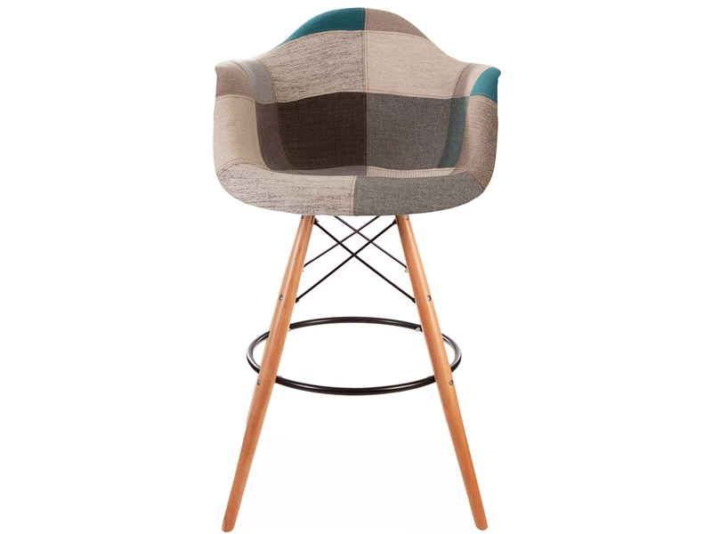 Image de l'article Chaise de bar DAB - Patchwork bleu
