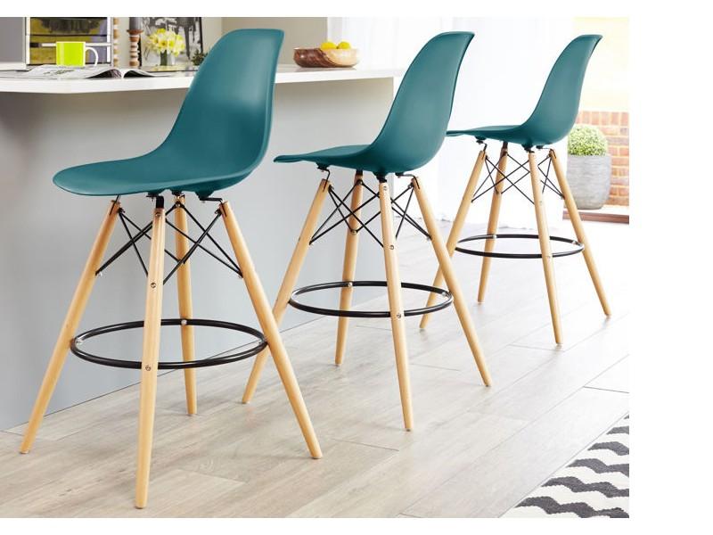chaise de bar dsb bleu vert. Black Bedroom Furniture Sets. Home Design Ideas