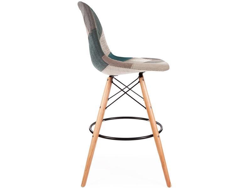 chaise de bar dsb patchwork bleu. Black Bedroom Furniture Sets. Home Design Ideas