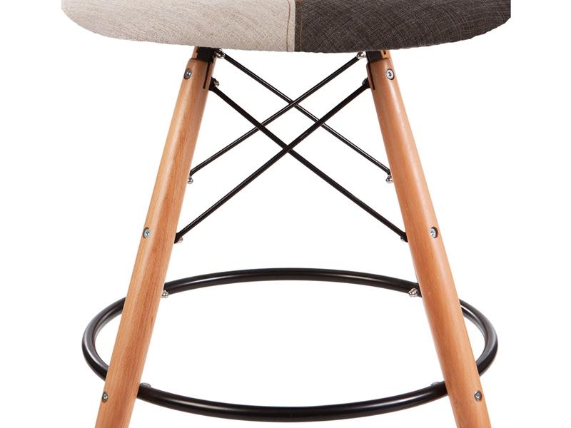 Image de l'article Chaise de bar DSB - Patchwork bleu