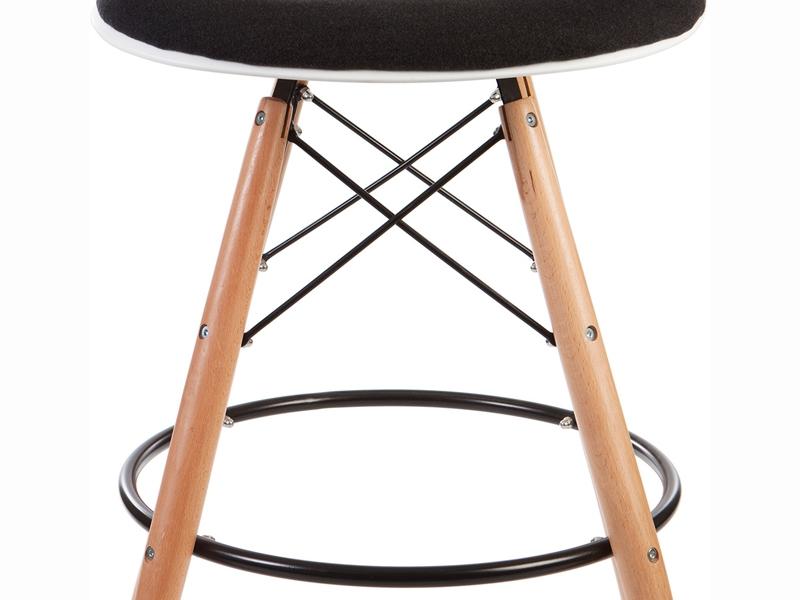 Image de l'article Chaise de bar DSB rembourée - Gris