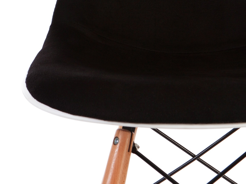 Image de l'article Chaise de bar DSB rembourée - Noir