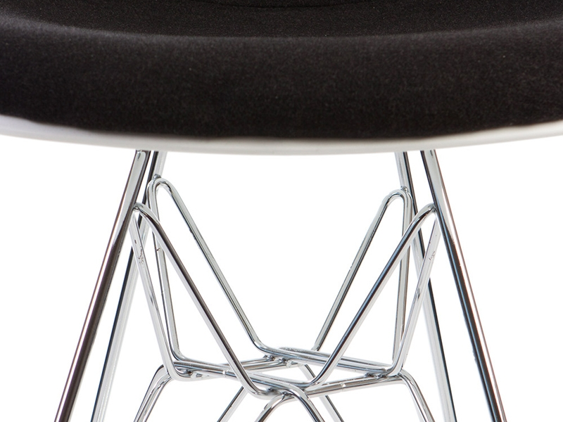 Image de l'article Chaise DSR rembourrée laine - Gris