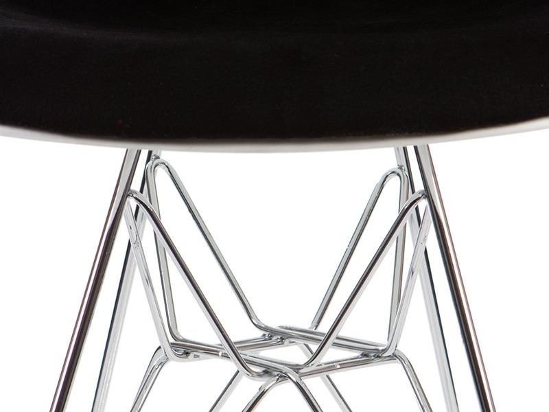 Image de l'article Chaise DSR rembourrée laine - Noir