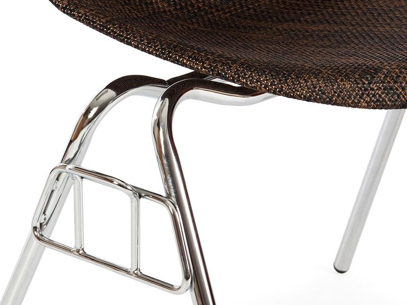 Image de l'article Chaise DSS Texture empilable - Cacao
