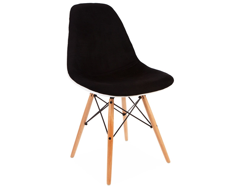 Chaise dsw rembourr e laine noir for Chaise dsw noir