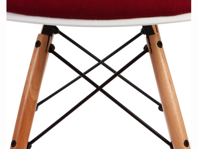 Image de l'article Chaise DSW rembourrée laine - Rouge