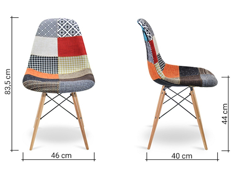 Chaise dsw rembourr e patchwork for Chaise longue patchwork