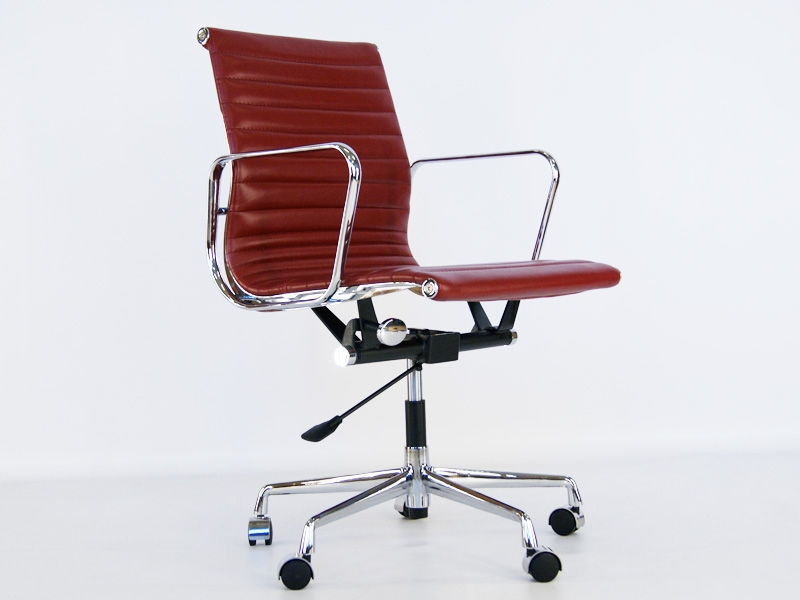 Chaise eames alu ea117 rouge fonc for Chaise eames rouge