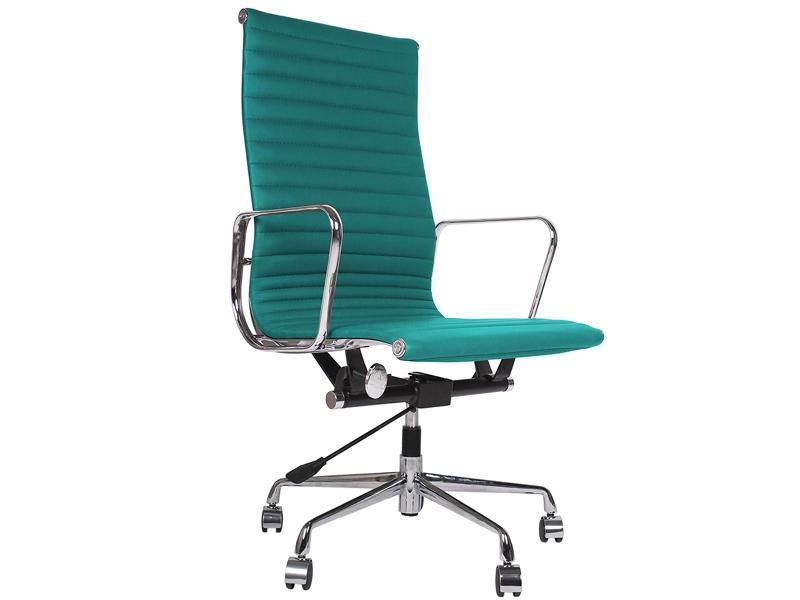 Chaise eames alu ea119 bleu for Chaise de bureau eames