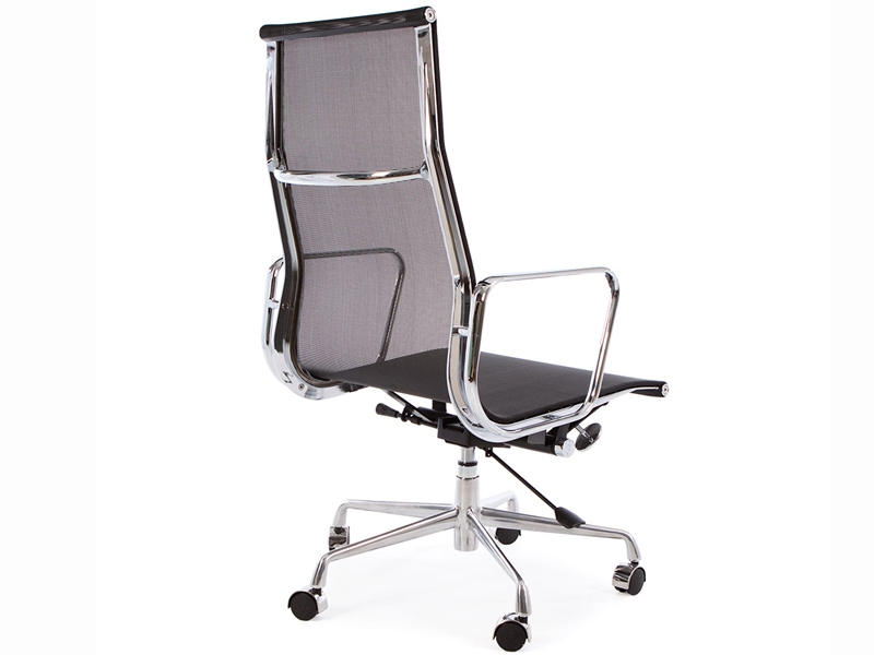 Chaise eames alu ea119 noir for Soldes chaises eames