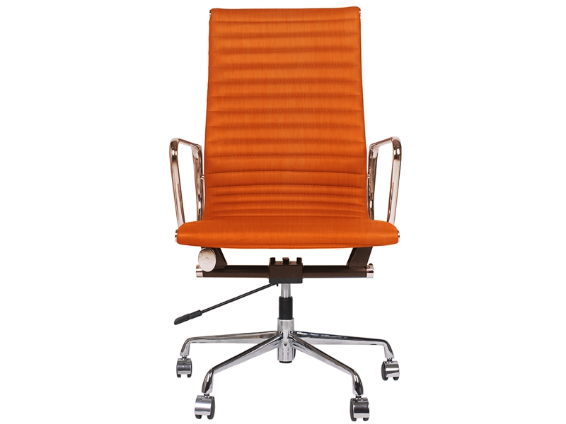 Chaise eames alu ea119 orange - Chaise de bureau eames ...
