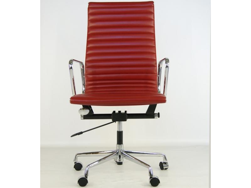 chaise eames alu ea119 rouge fonc. Black Bedroom Furniture Sets. Home Design Ideas