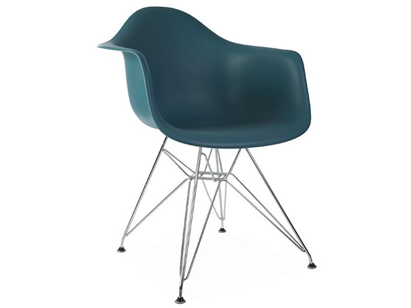 Chaise dar bleu vert for Chaise eames bleu paon