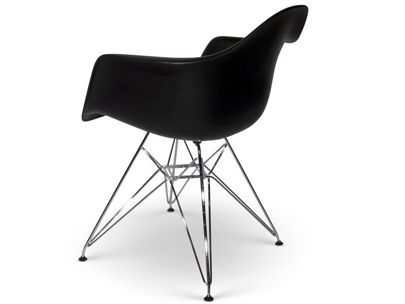 Chaise dar charles et ray eames noir mobilier design for Mobilier charles eames