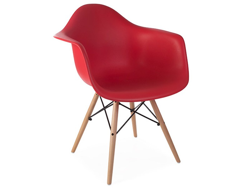 Chaise daw rouge grenat for Chaise eames rouge