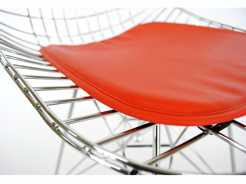 Chaise eames dkr rouge for Chaise eames rouge