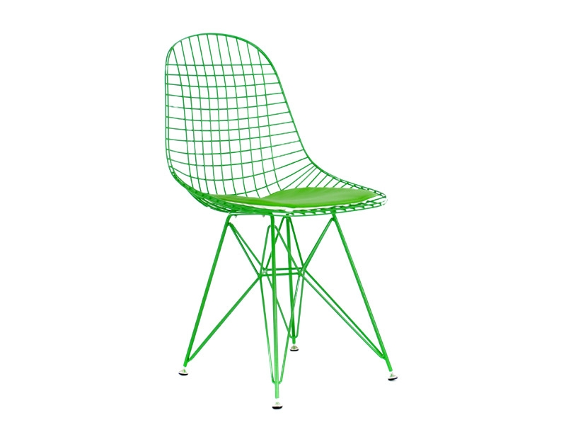 Eames dkr chaise similicuir vert for Chaise eames dkr