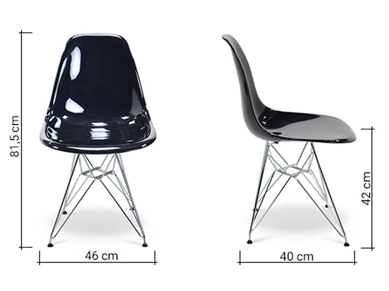 Image de l'article Chaise Eames DSR - Noir brillant