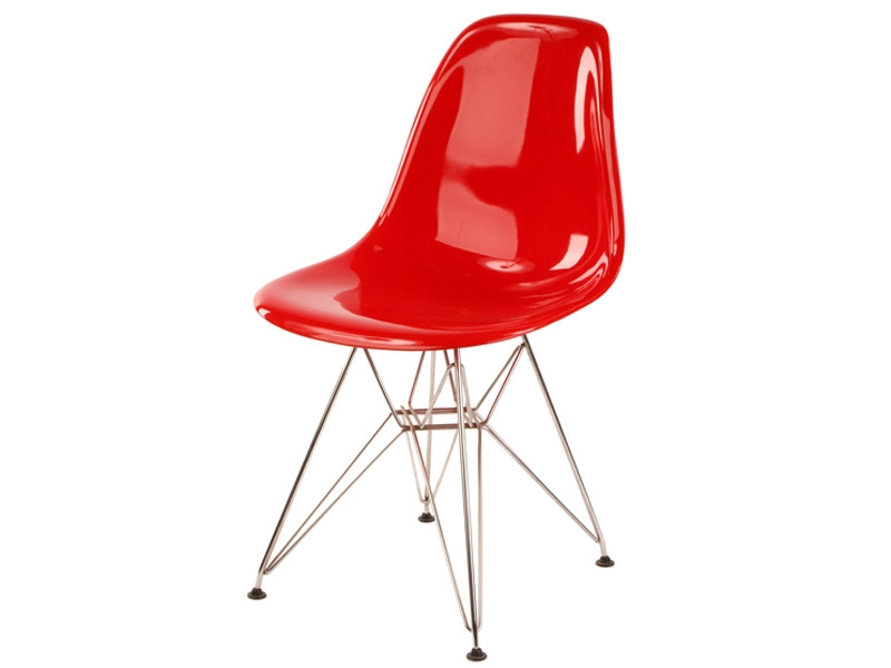 Chaise dsr rouge brillant for Chaise eames rouge