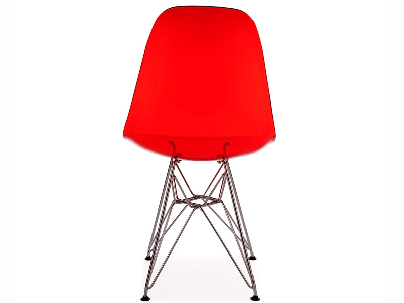 Chaise dsr rouge transparent for Chaise eames rouge