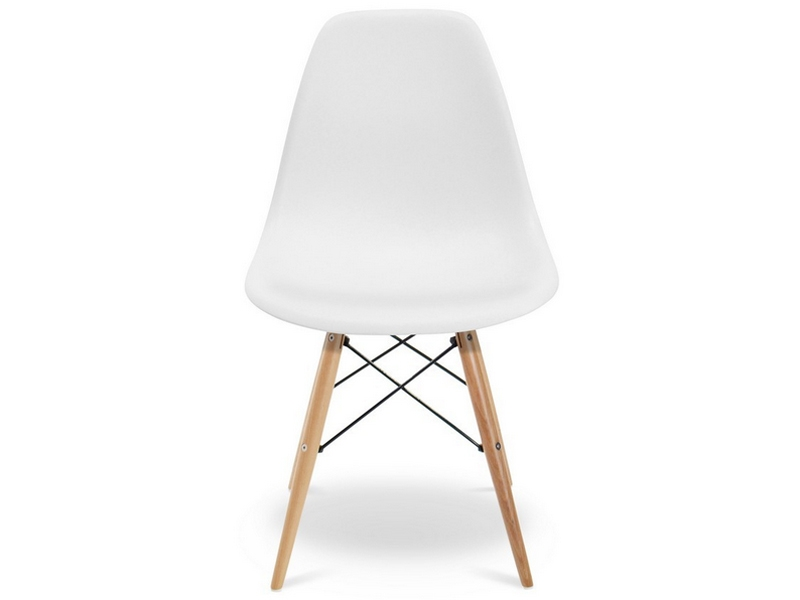 Chaise dsw charles et ray eames blanc mobilier designer for Mobilier charles eames