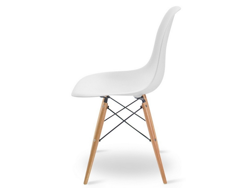 Chaise dsw charles et ray eames blanc mobilier designer for Chaise eames dsw blanc