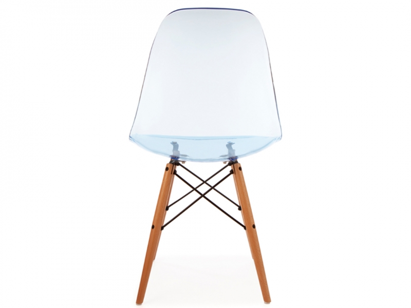 Chaise dsw bleu transparent for Fauteuil eames bleu