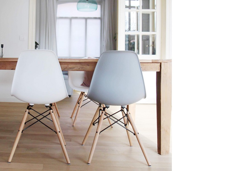 Image de l'article Chaise Eames DSW - Gris clair