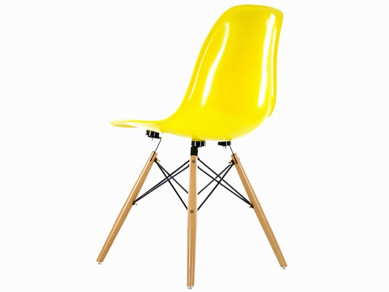 Chaise dsw jaune brillant for Chaise eames dsw fibre de verre